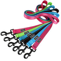 4ft Reflective Dog Lead Walking Leash Soft Handle Nylon Rope for Small Large Dog