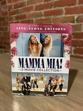 Mamma Mia! 2-Movie Collection Sing Along Editions Blu-ray Digital + slip cover
