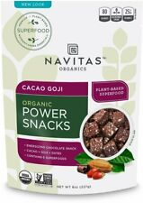 Organic Goji Cacao Power Snacks by Navitas Naturals, 8 oz
