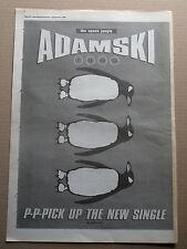 ADAMSKI - THE SPACE JUNGLE - ORIGINAL magazine ADVERT POSTER 1990