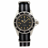 Tudor Oyster Prince Submariner No Date Steel Black Dial Mens Watch 7016/0