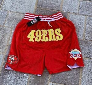 Men's San Francisco 49ers Red shorts embroidery Pants Summer Causal trousers