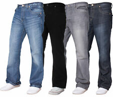 New Mens Apt Bootleg Jeans Branded King Size Boot Cut Fit Pants Jeans Size 28-48