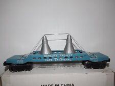 """RARE - Lionel #6413 """"Aquamarine""""  Mercury Capsule Carrying Car"""