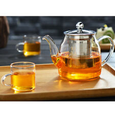 600ml Heat Resistant Flower Coffee Glass Tea Pot Glass Teapot