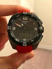Tissot T-Touch Expert T091.420.47.057.00 Black Dial Red Rubber Solar Men's Watch
