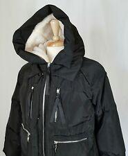 MISSFOFO Ming Si Yu Down Coat Jacket Parka Woman XXL Black Hooded Nylon Zipper