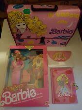 Barbie set valigetta con diario segreto, carta da lettere e barbie Flight Time