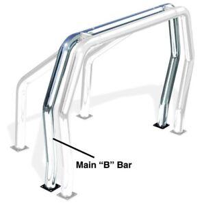 Go Rhino 90002C Rhino Bed Bars; Rear Main B Bar