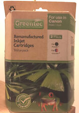 Greentec Remanufactured Inkjet Cartridge Value Pack For Use in Canon PG40/CL41