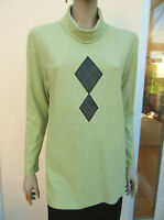 Finn Karelia - Finland -BNWT - Light Green Fine Knit Jersey Jumper Top - size 14