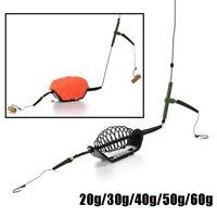 2 Hooks Angling Mould Set Beads Lead Sinker Swivel Feeder  Fishing Bait Cage
