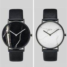 Marble Surface Dial Quatz Watch Fashion Women Men Couple Watches
