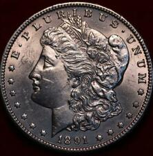 Uncirculated 1891-CC Carson City Mint Silver Morgan Dollar