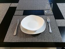 Chilewich placemats and coasters (set of 4) Woven Lattice Silver