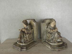 antique bookends Stunning figurine Monk hatch monastery church priest medieval