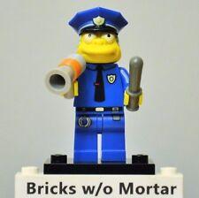 New Genuine LEGO Chief Wiggum Minifig w/ Night Stick + Megaphone Simpsons 71005