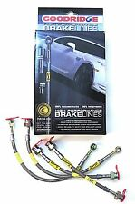 GOODRIDGE BRAKE HOSE KIT VAUXHALL CORSA C ALL 2000-2007 BRAIDED STAINLESS STEEL