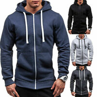 Men's Warm Hoodie Hooded Sweatshirt Coat Jacket Outwear Jumper Winter Sweater B
