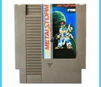 [ Metal Storm NES Nintendo USA platform arcade ] video game cartridge cart