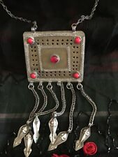 Eastern Pendant Necklace Vintage Tribal Middle