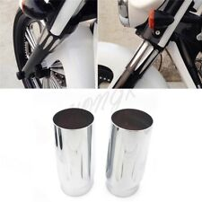 Chrome Deep Cut Upper Fork Boot Slider Covers for Harley 86-13 FLH/FLHR