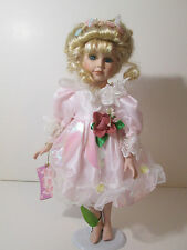 Lisa Doll From the Rose Collection Porcelain Angel Doll Blonde Hair Blue Eyes 16