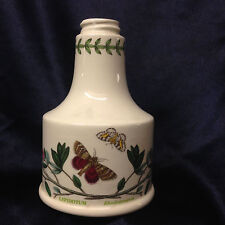 PORTMEIRION BOTANIC GARDEN LOTION BOTTLE RHODODENDRON LEPIDOTUM FLOWERS INSECTS