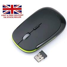 Plug & Play Slim Wireless Optical Mouse 2.4GHz  Scroll For Computer PC Laptops