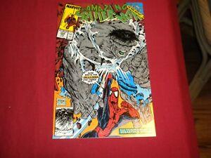GA1 Amazing Spider-Man #328 marvel 1990 copper age 8.5/vf+ comic! GREY HULK!