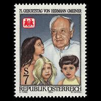 Austria 1994 - 75th Anniv of the Birth of Hermann Gmeiner - Sc 1656 MNH