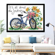 Stamped Cross Stitch Kits With Pre-printed Pattern- The Journey 14CT 21x16cm