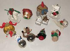 Huge Lot of 12 Hallmark Miniatures Ornaments Animals Husky Bear Dog Seal Birds
