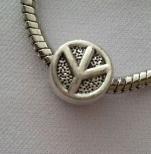 Peace Sign Symbol Dangle Bead Fit Most European Style Charm Bracelet