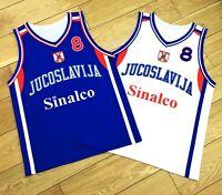 Throwback Peja Stojaković #8 Serbia Jugoslavija Basketball Jerseys Custom Names