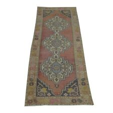Turkish rug, 3.3x9.2ft, Vintage runner rug, Oushak runner, Turkish runner rug