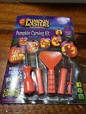 Halloween Pumpkin Masters Pumpkin Carving Kit 5 Tools 10 Patterns New in Package