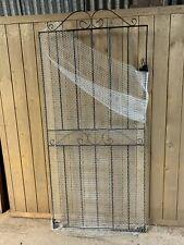 More details for tall black wrought iron pedestrian garden gate 1800mm (h) x 810mm (w) grade f