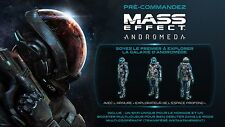 Code MASS EFFECT ANDROMEDA PS4 Armure explorateur de l espace profond + skin