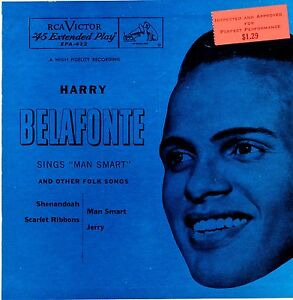 HARRY BELAFONTE -Sings Man Smart - 1954 RCA Victor EPA-412 with Picture Sleeve