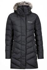NWT Women's Black  Marmot Strollbridge 700 Fill Down hood Coat Size Small