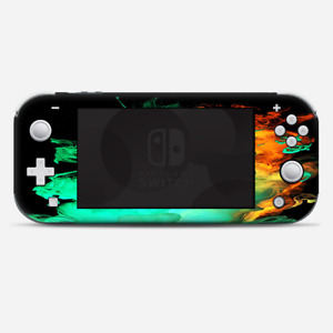 Skins Decals wrap for Nintendo Switch Lite - Orange Green Smoke
