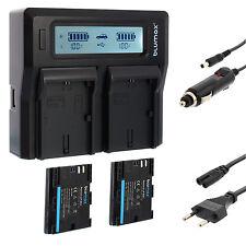 2x batería para Canon lp-e6n + dual cargador Charger para Canon lp-e6 (n) | 60366 | 90329