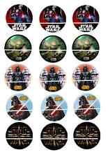 12 mini disque azyme cupcakes  star wars pour gateaux , enfant
