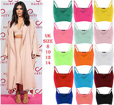 New Womens Bralet Strap Top Cami Vest Girls Bra V Neck Wrap Over Crop Tops