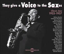 1336 // THEY GIVE A VOICE OF THE SAXES CLASSIC JAZZ 1923-1957 COFFRET 2 CD +