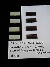 1971-1976 CADILLAC COURTESY LIGHT COVERS,DOOR LIGHT COVERS,RED OR WHITE,INTERIOR