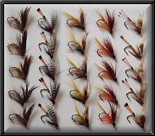25 tradizionale scozzese wets mosche a mano legato TROTA PESCA FLY FOR MULINELLO CANNA linea