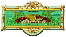 French Advertising Kitchen Soup Sign - Cuisine Soupe