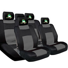 New Frog Mesh and Synthetic Leather Car Seat Covers and 4X Headrest Covers BG